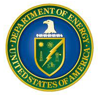 Green, yellow and blue DOE logo