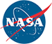 Blue, red and white NASA logo